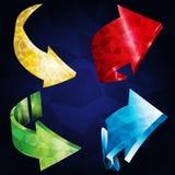 lutningpolygon för pilar 3D Royaltyfria Bilder