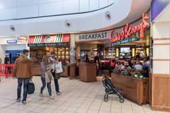 LONDON, ENGLAND - SEPTEMBER 29, 2017: Luton Airport Check Departure area with Duty Free Shop. London, England, United Kingdom. Luton Airport Check Departure Stock Photos