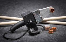Lutowniczy żelazo dla wody i grzejnej instalaci Obrazy Stock
