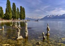Lutry - la Svizzera immagini stock
