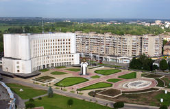Lutsk, de Oekraïne - luchtmening Stock Foto's