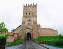 Lutsk High Castle, also known as Lubart`s Castle, began its life stock photos