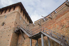 Lutsk-Schloss Lubart-Schloss in Ukraine fragment Lizenzfreies Stockfoto