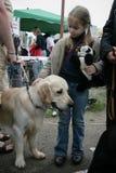 Child and dog Royalty Free Stock Image