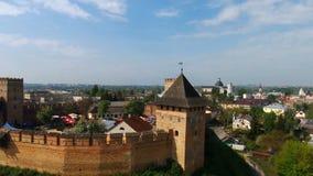 Lutsk, Ukraine - 7 mai 2017, le château du ` s de Lubart banque de vidéos