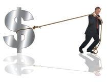 Lutte avec le dollar. Images libres de droits