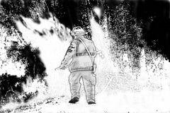 Lutte d'un incendie Photos libres de droits