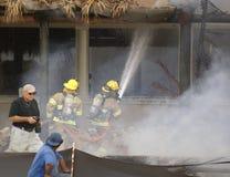 Lutte de la flamme à la ressource de loge de Cheeca Images libres de droits