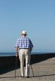 Lutte de personnes âgées Images libres de droits