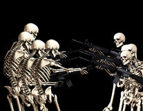 On luttent les squelettes 3 Photos stock