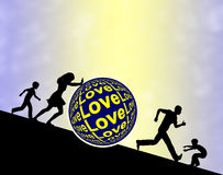 Lutter pour l'amour Images libres de droits