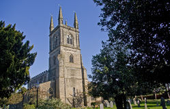 Lutterworth Parish Church. St Mary's Church in the Leicestershire village of Lutterworth, England Royalty Free Stock Photography