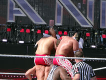 Lutteurs de WWE, Cesaro, grand E, matadores de visibilité directe, Tyson Kidd, Kofi K photos stock
