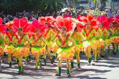 Luty 27, 2015 Baguio, Filipiny Baguio Citys Panagbenga F Zdjęcie Royalty Free