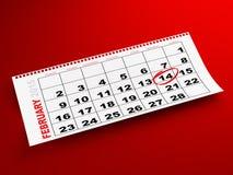 Luty 2015 kalendarz Obrazy Royalty Free