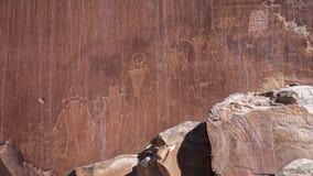 LUTY 15, 2019, S UTAH, usa - petroglify w Południowym Utah obraz stock