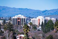 Luty 23, 2018 San Jose, CA, usa/- Kaiser Permanente szpitala i centrum medycznego budynki lokalizujący w południowym San Jose, Sa fotografia stock