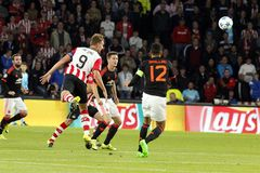 Luuk de Jong PSV Eindhoven and  Ander Herrera Manchester united Stock Photos