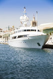 Luuxury yacht at port of Malaga, Andalusia, Spain. Stock Images