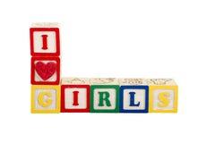 Luv I Mädchen Stockbilder