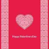 Luv. Postcard heart, Valentine's Day, Valentine Stock Photography