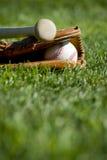 Luva, bastão e esfera de basebol Fotografia de Stock Royalty Free