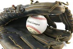 Luva de basebol com esfera foto de stock royalty free