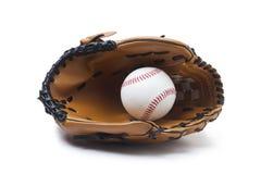 luva de beisebol e bola Fotografia de Stock Royalty Free