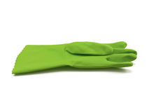 Luva de borracha verde Foto de Stock Royalty Free