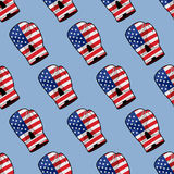 Luva de encaixotamento com a bandeira do teste padrão sem emenda de América Acces desportivos ilustração do vetor