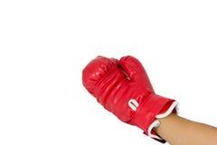Luva de encaixotamento vermelha Imagem de Stock