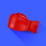 Luva de encaixotamento vermelha Imagens de Stock