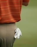 Luva de golfe no bolso traseiro - trajeto de grampeamento Fotos de Stock