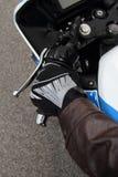 Luva do motociclista Imagem de Stock Royalty Free