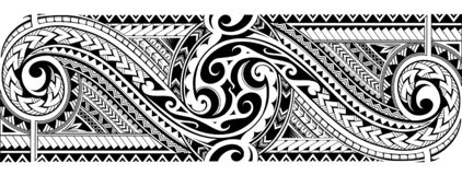 Luva tribal da tatuagem ilustração stock