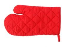 Luva vermelha do forno Imagem de Stock Royalty Free