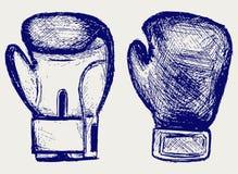 Luvas de encaixotamento Imagens de Stock