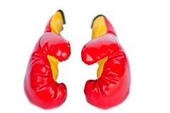 Luvas de encaixotamento vermelhas Imagens de Stock Royalty Free