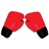 Luvas de encaixotamento vermelhas Foto de Stock