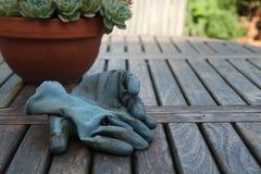 Luvas de jardinagem Fotos de Stock