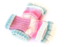 Luvas de lã fêmeas Fotografia de Stock