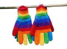 Luvas do arco-íris. Imagem de Stock Royalty Free