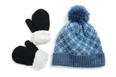 luvas e chapéu do inverno Fotos de Stock