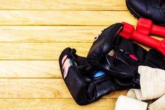 Luvas para artes marciais Fotografia de Stock Royalty Free