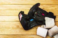 Luvas para artes marciais Foto de Stock Royalty Free