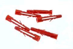 Luvas plásticas para os parafusos da asseguração foto de stock