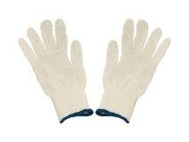 Luvas protetoras do algodão Fotos de Stock