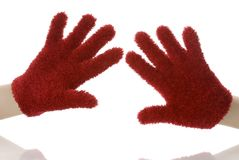 Luvas vermelhas fotografia de stock