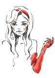 Luvas vermelhas Imagem de Stock