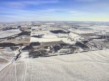 Luverne в южной западной Минесоте во время зимы стоковые фото